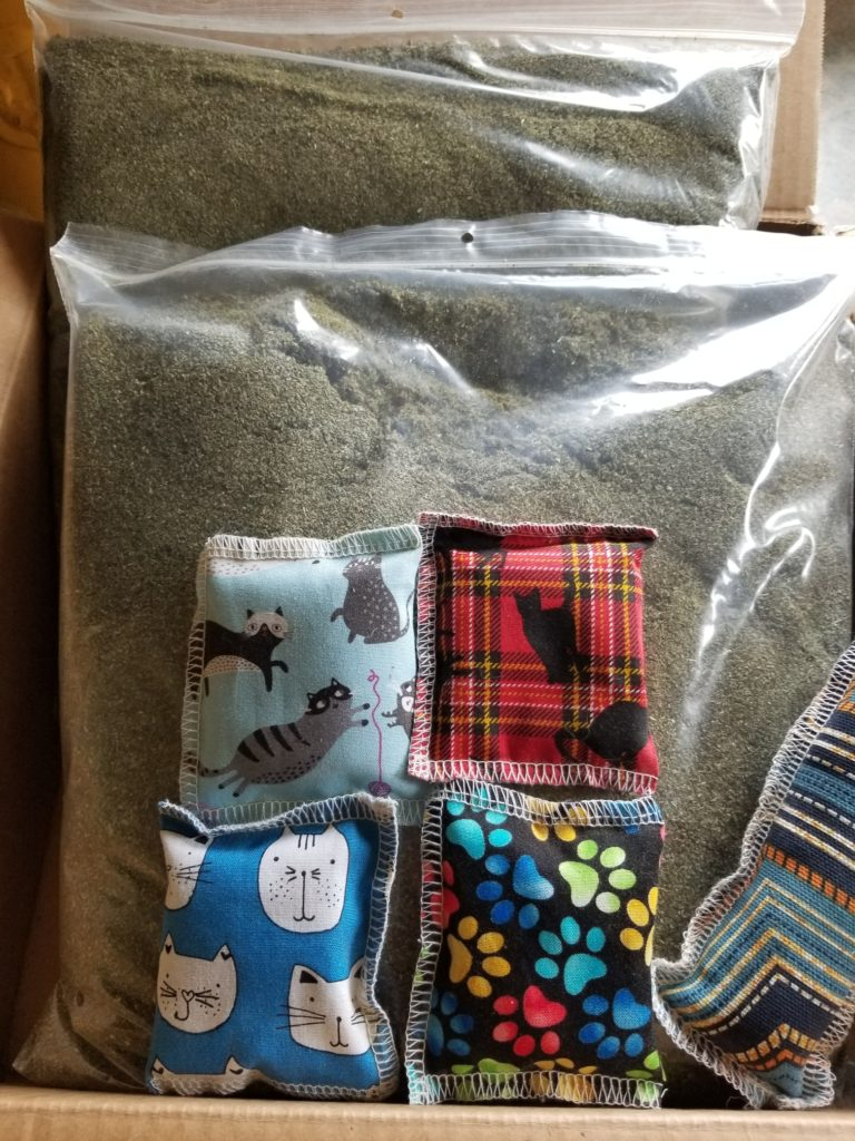 Catnip and Toy Samples
