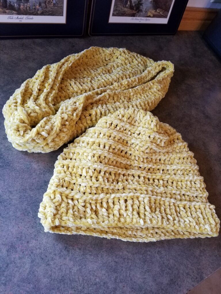 Hat with Eternity Scarf $18.00